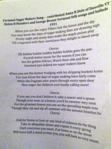 The Sugar Makers Song--learn it, spread it, sing it!